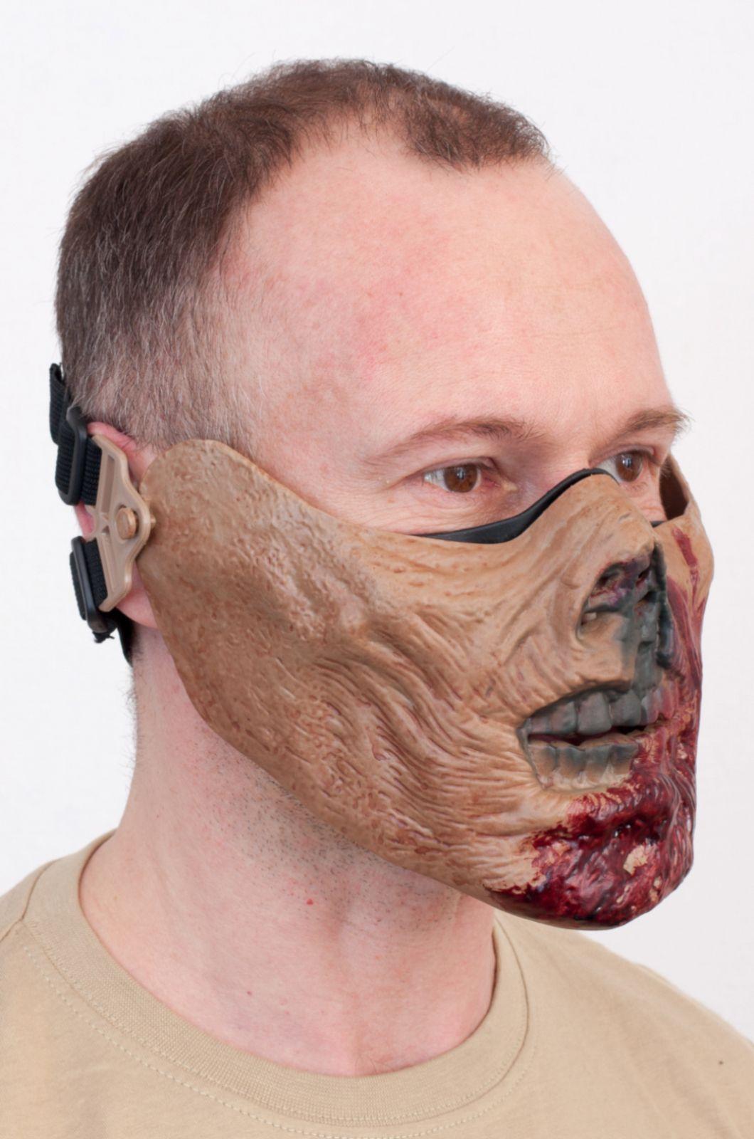 Маска на пол лица Зомби по лучшей цене