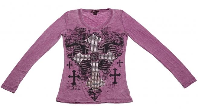 Меланжевая кофточка от Rock&Roll CowGirl - Крестовая дама