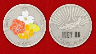 Memory Сrew INDY 08 Challenge Coin - obverse and reverse