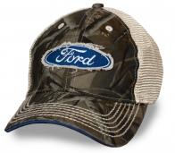 Хватит ходить в смешной детской кепке! Мужская милитари бейсболка с потрёпанной нашивкой Ford – стильно, современно, удобно
