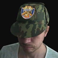 Милитари кепка с шевроном Ни пуха, Ни пера