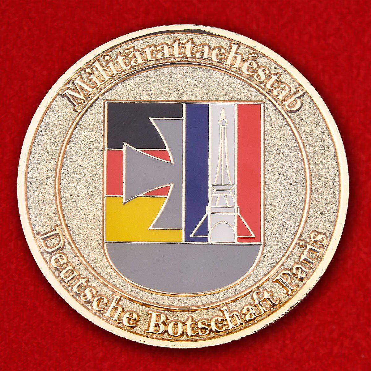 Militärattachestab Deutsche Botschaft Paris Herausforderungs-Münze
