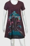 Милое молодежное платье-туника с трендовым принтом от ZB