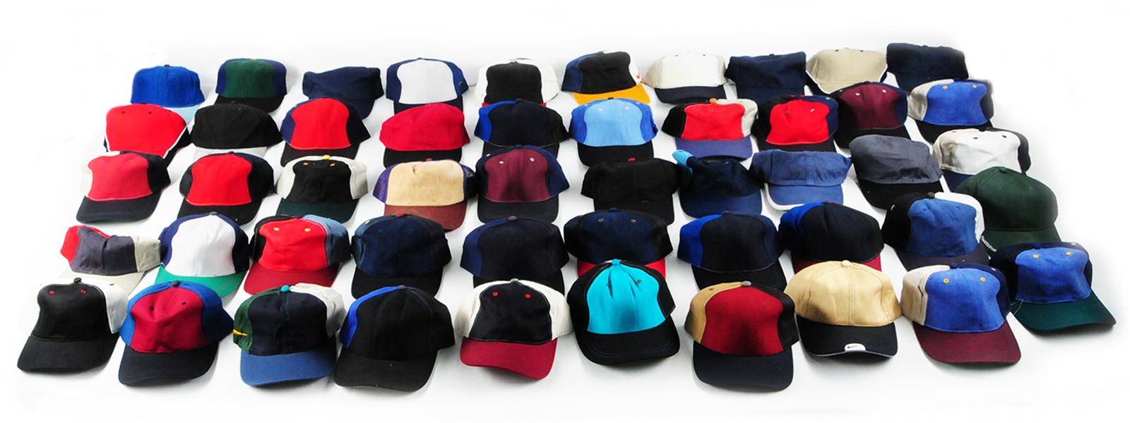 Многоцветные кепки для лета