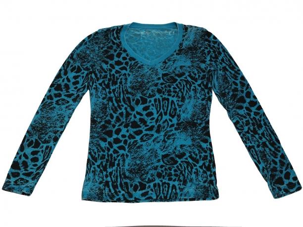 Модная кофточка оригинального пятнистого цвета. Эксклюзивная модель