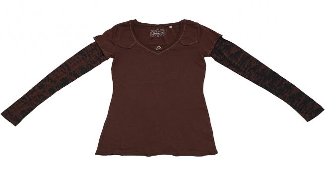 Модная кофточка от Panhandle Slim: глубокий кофейный цвет, стильный дизайн