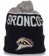 Молодежная шапка Broncos на флисе. Уютная модель для спорта и на каждый день