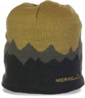 Молодежная шапка Merrell на флисе. Мода и тепло - 2 в 1! Фирменная модель по суперцене, заказывай скорее!
