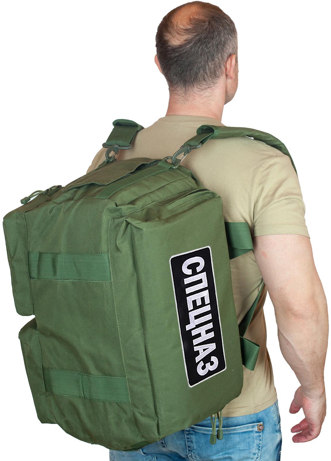 Купить спецназовскую сумку  с лямками рюкзака