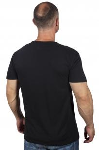 Мужская черная футболка с принтом от G-Star Raw® брендового качества