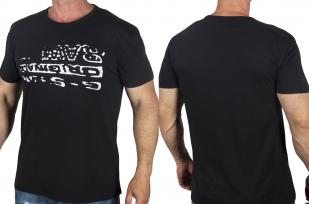 Мужская черная футболка с принтом от G-Star Raw® с доставкой