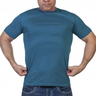 Мужская футболка оригинального сине-зеленого цвета