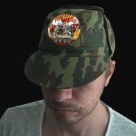 Мужская камо-кепка с шевроном Росгвардии