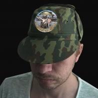 Мужская кепка-камуфляж с рыболовной эмблемой