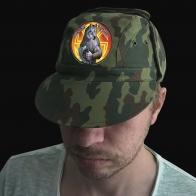 Мужская кепка-камуфляж с шевроном Слава Руси