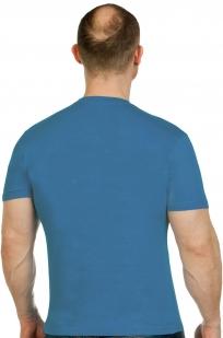 Мужская лаконичная футболка с вышитой эмблемой ВДВ - купить оптом