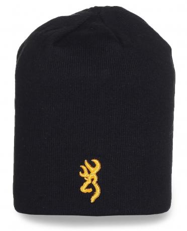 Мужская шапка Browning черного цвета