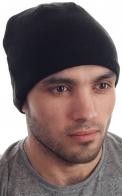 Черная флисовая шапка для стильных парней