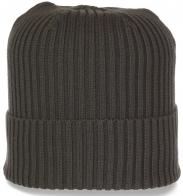 Мужская шапка хаки с широким отворотом