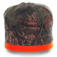 Мужская шапка на все случаи жизни. Модель популярного камуфляжного цвета с яркой полоской. Надежная защита в любую погоду