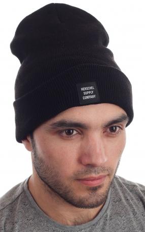 Брендовая вязаная мужская шапка от Herschel Supply Co.