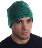 Мужская шапка спортивной модели на флисовой основе