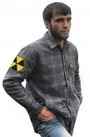 Мужская теплая рубашка с вышитым шевроном Радиация