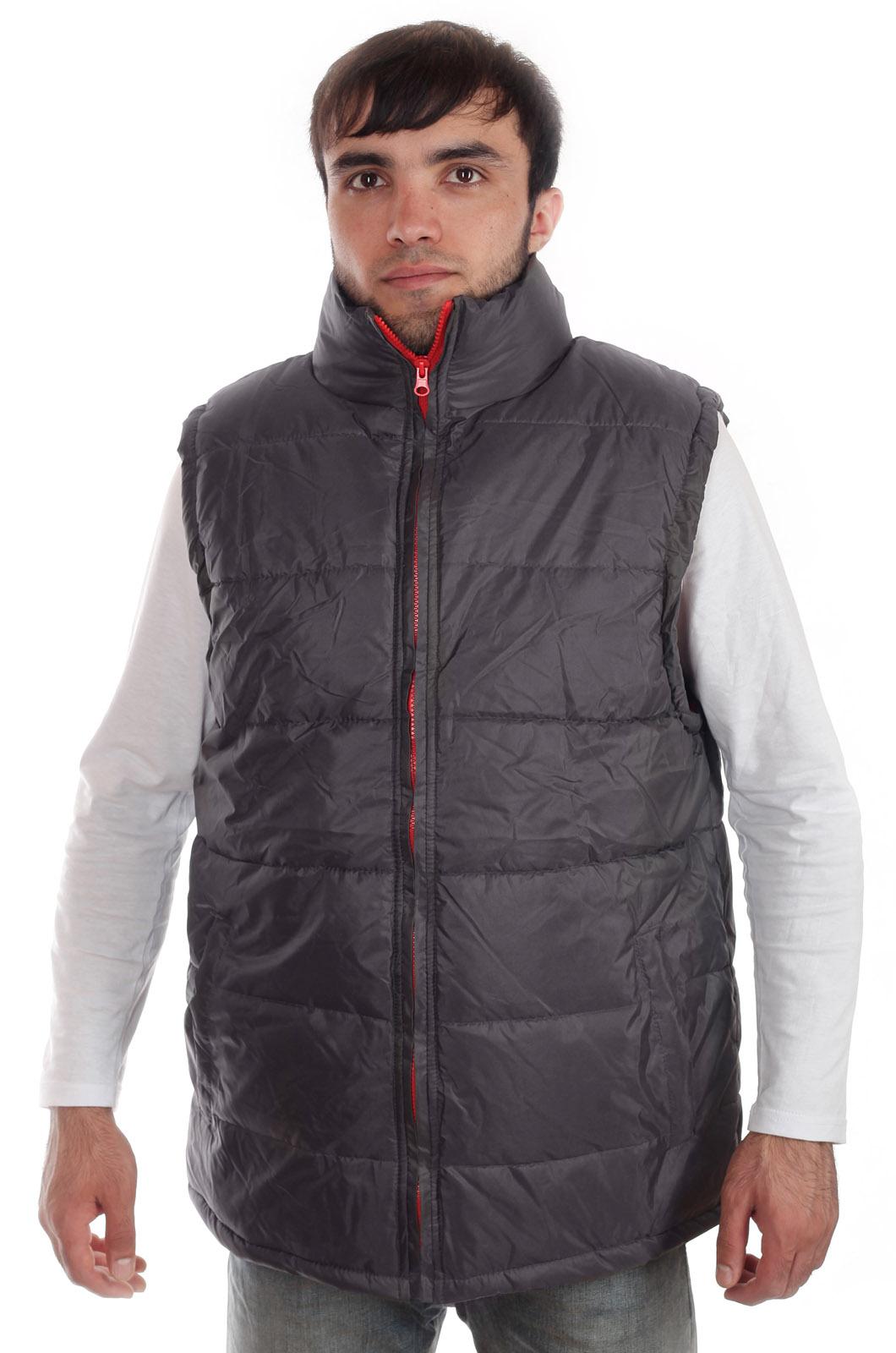Купить в интернет магазине синтепоновую мужскую жилетку на молнии