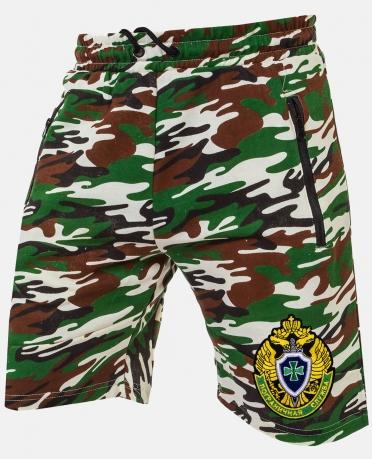 Купить мужские камуфляжные шорты с шевроном Погранслужбы