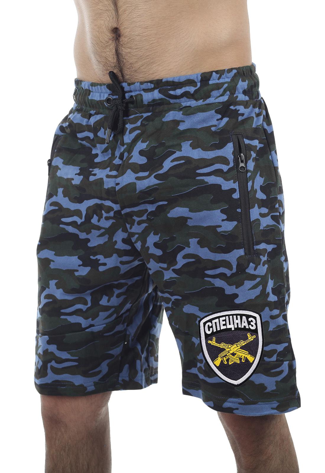 Купить в военторге мужские шорты СПЕЦНАЗА в камуфляже Woodland