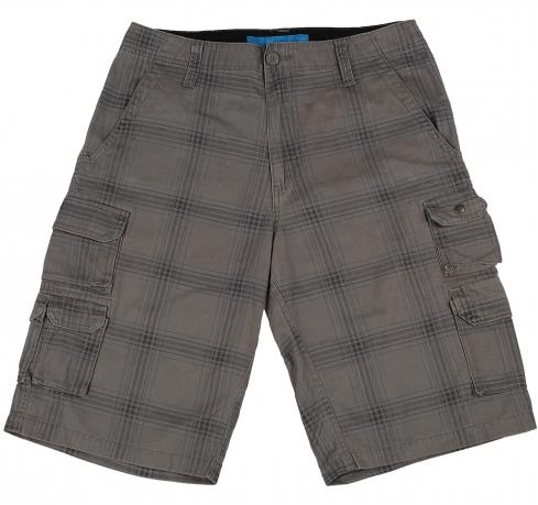 Мужские шорты Plugg серого цвета клетчатые