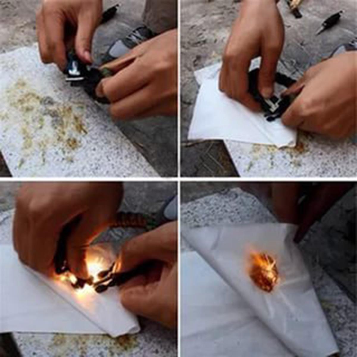 Мужской браслет на запястье с огнивом