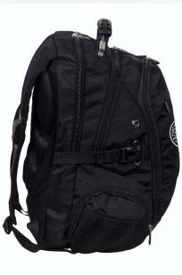 Заказать мужской черный рюкзак с нашивкой Рунический круг