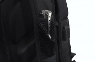 Мужской черный рюкзак с нашивкой Рунический круг купить в подарок