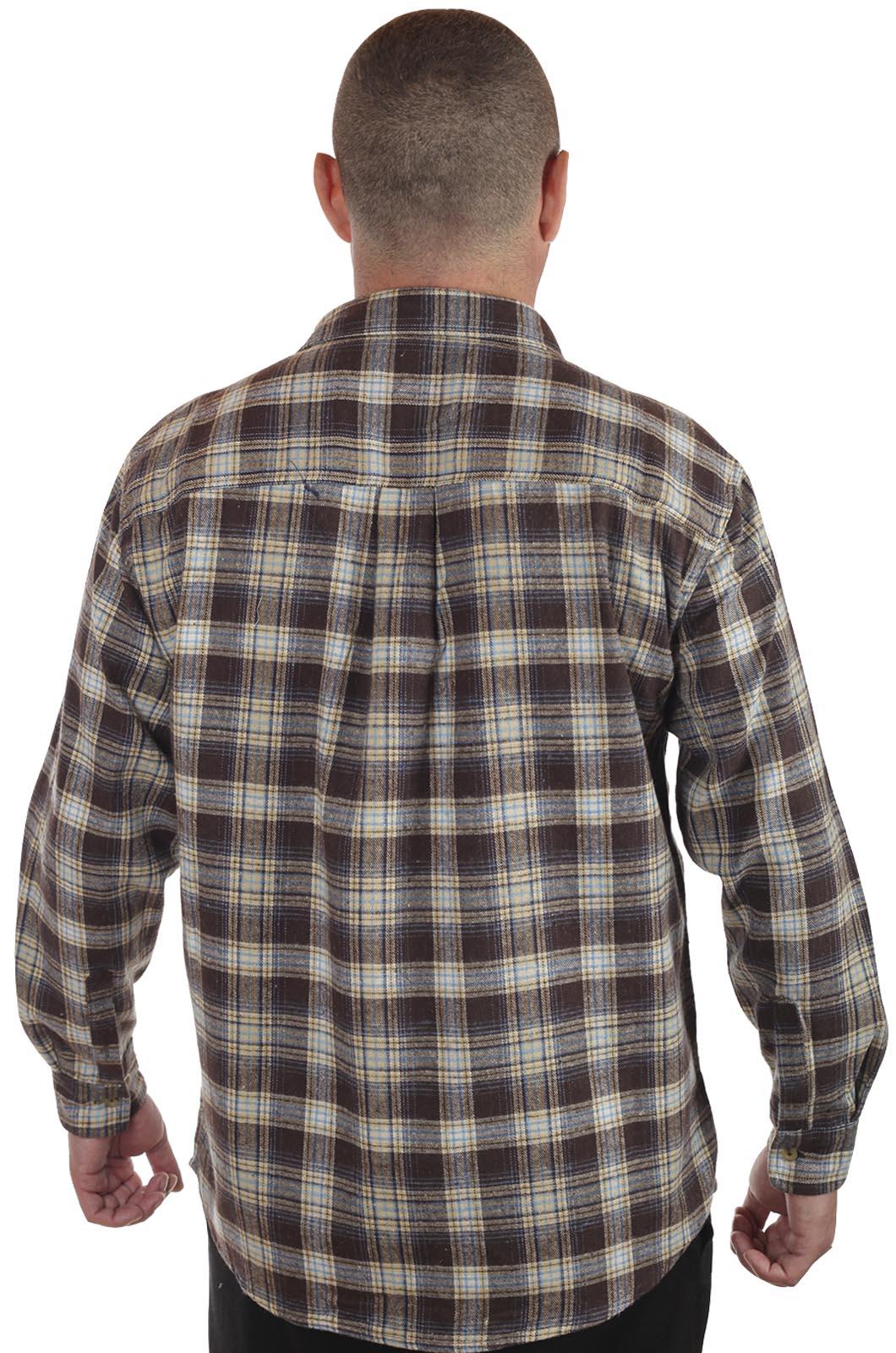 Мужская рубашка в клетку – натуральный хлопок