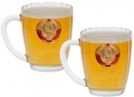 """Набор бокалов для пива """"СССР"""" - подарок дяде на Новый год"""