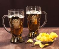 Набор пивных бокалов с гербом России