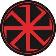 Наклейка Коловрат красный
