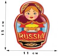 "Наклейка ""Матрёшка Russia"" (15x11 см)"