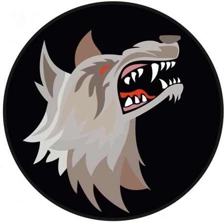 "Наклейка ""Оскал волка"""