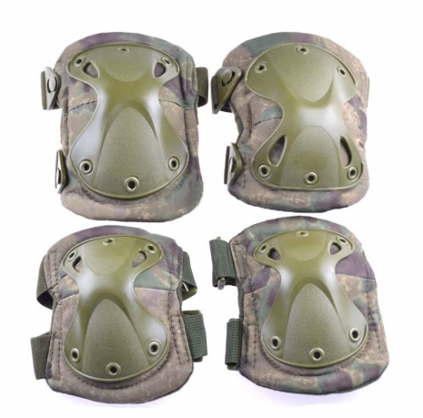 Наколенники и налокотники спецназа камуфляж A-TACS