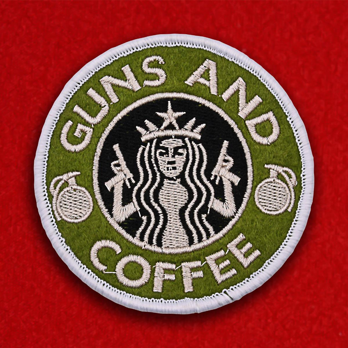 """Нашивка """"Пистолеты и кофе"""""""