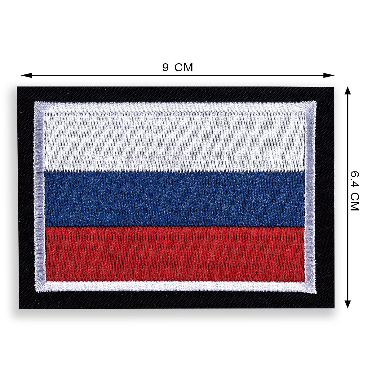 Флаг россии с вышивкой