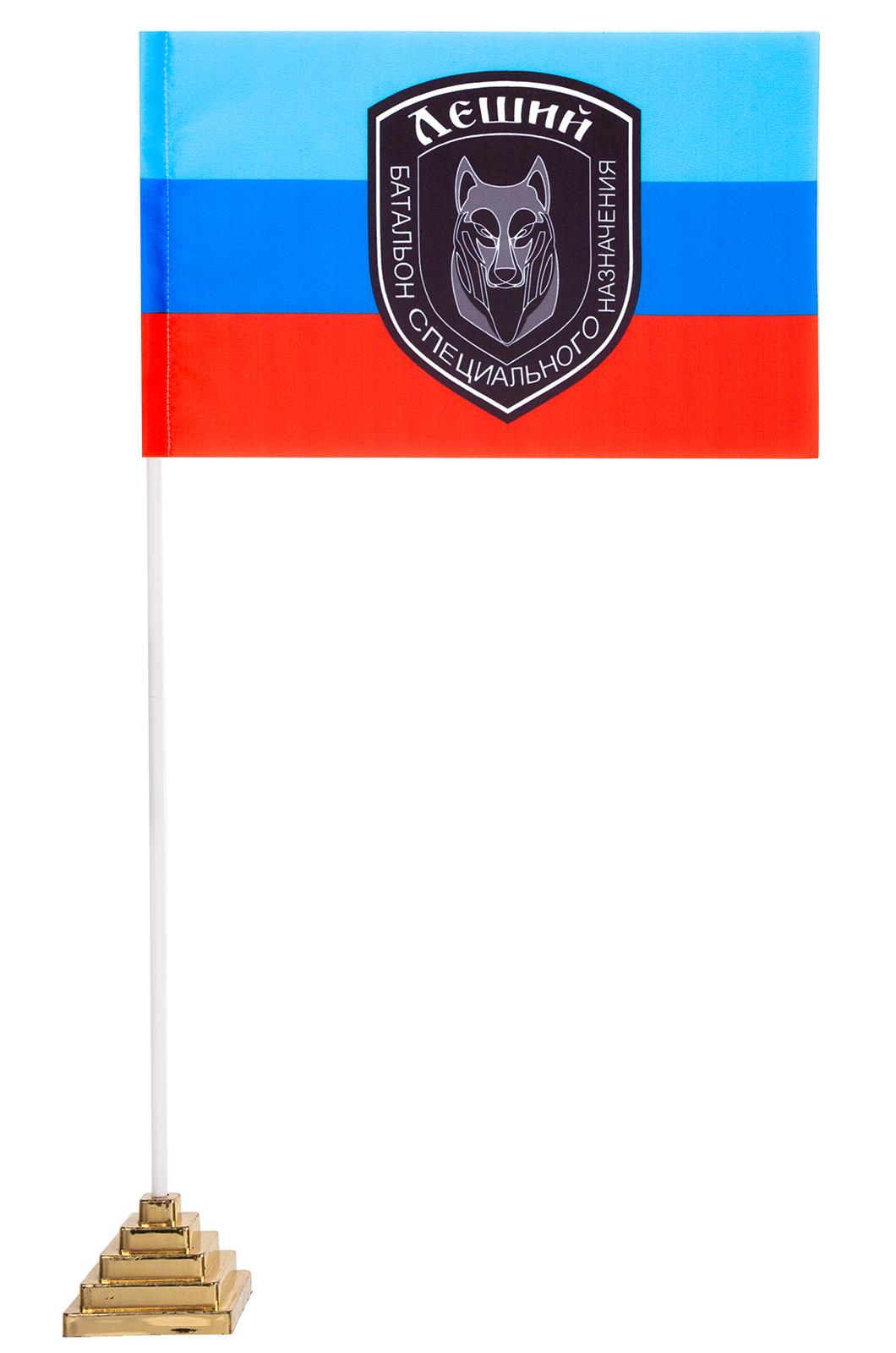"""Настольный флажок """"Леший"""" батальон ЛНР"""