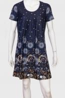 Насыщенно-синее платье с этническим узором