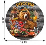 """Национально-патриотический стикер """"Россия"""""""