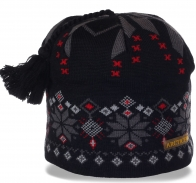 Неподражаемая жаккардовая зимняя женская шапка с флисом ArcticFox недорогая новомодная модель