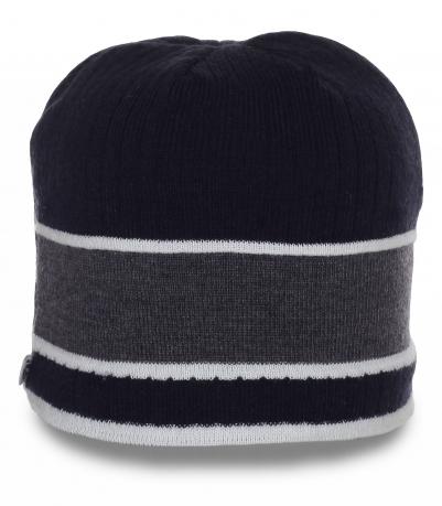 Неприхотливая современная модель мужская шапка утепленная флисом