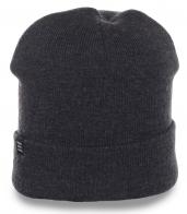 Непринужденная практичная и удобная мужская шапка с отворотом общедоступная модель
