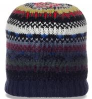 Несравненная жаккардовая женская зимняя шапка броского безукоризненного дизайна